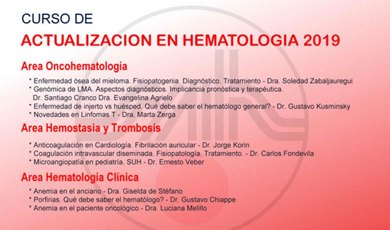 curso hematología