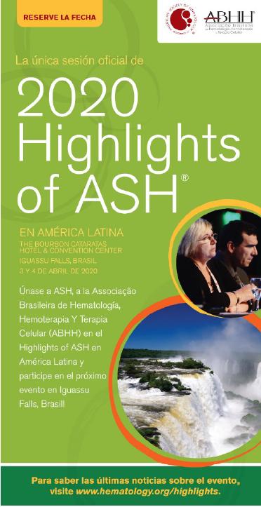 La SAH auspicia Highlights of ASH 2020 en América Latina
